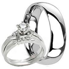 his and hers engagement rings sets titanium engagement and wedding ring sets ebay