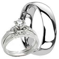 womens wedding ring sets titanium engagement and wedding ring sets ebay