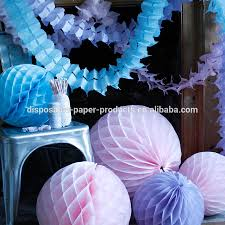 Hanging Party Decorations Tissue Paper Honeycomb Balls Fans Garlands Valentine Paper Wedding