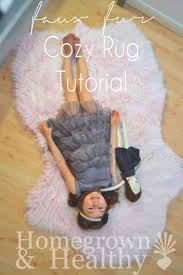 faux fur rug tutorial homegrown in the valley