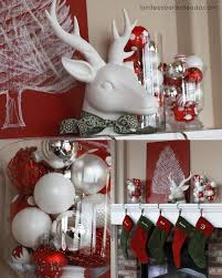 collection of silver and white christmas table centerpieces all