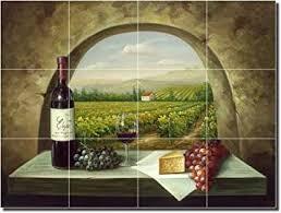 kitchen backsplash murals vineyard view tuscan landscape ceramic tile mural 18 x 24