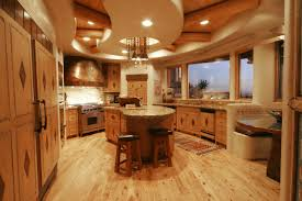Log Cabin Kitchen Cabinets Interior Divine U Shape Kitchen Decoration Using Flare White