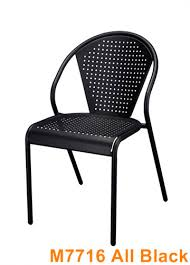 Black Outdoor Furniture by Metal Chairs