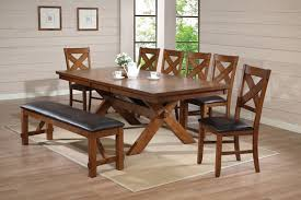 Bench Style Dining Tables Country Style Dining Table With Bench Bathroom Faucet And Bench