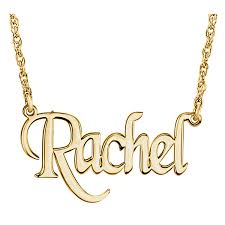 Gold Personalized Name Necklace Gold Personalized Name Necklace With Stylish Block Font