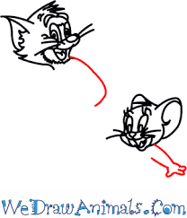how to draw tom and jerry