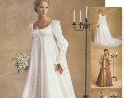 empire wedding dress etsy