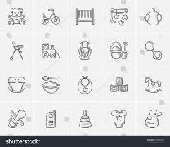 kids sketch icon set web mobile stock vector 475884220 shutterstock