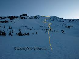 trip report skiing mt shasta west face earnyourturns