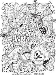 Hello autumn Coloring book for adult