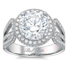 halo engagement ring settings halo setting for or moissanite with a shank band