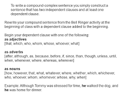 how do i identify compound complex sentences what is a complex