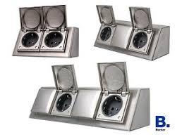 steckdose design design aufbau steckdose edelstahl aufputz tisch küche bad klappe