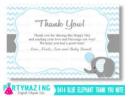 baby shower thank you cards editable chevron thank you notes printable 4x6 cards printable