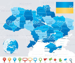 Map States by Map Of Ukraine States Cities Flag And Icons Stock Vector Art