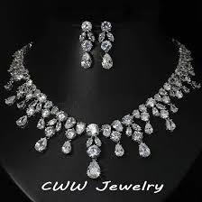 wedding jewellery aliexpress buy cwwzircons luxury wedding jewellery