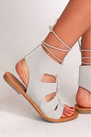 of rome gladiator sandals grey