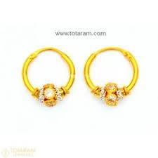 baby gold earrings 18k gold diamond earrings for baby 235 der1035 buy this