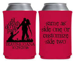 Halloween Wedding Favors Til Death Do Us Part 3a Zombies Custom Coolers Halloween Wedding
