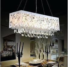 Rectangular Light Fixtures For Dining Rooms Led Dining Room Chandeliers Jcemeralds Co