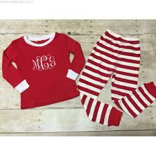 monogrammed christmas personalized monogrammed christmas pajamas kids personalized