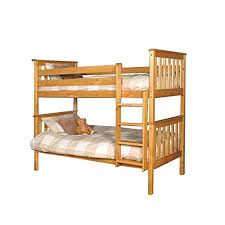 Pine Bunk Bed Premium Pine Bunk Bed With A Caramel Finish With Mattresses