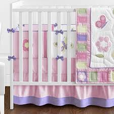 Design Crib Bedding Pink And Purple Butterfly Flower Collection Baby Bedding 9pc