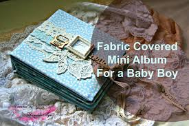 fabric photo album lace fabric book cover mini album for baby boy