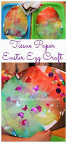 Decorating Easter Eggs With Tissue Paper by Colorful Tissue Paper Easter Egg Craft For Kids Time Snippets