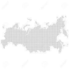 Russia Map Dotted Abstract Russia Map Vector Dot Map Royalty Free Cliparts