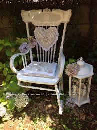 cuscini per sedia a dondolo decorare sedia a dondolo shabby maison des souvenirs
