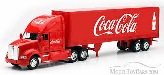 kenworth tractor trailer kenworth t700 tractor trailer red motor city coca cola 12213m 1