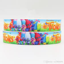 ribbon 7 8inch 22mm 160801019 les trolls printed grosgrain ribbon