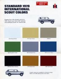 1978 international scout colors cars pinterest