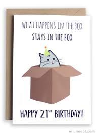 funny 21st birthday card u2013 miümi cat
