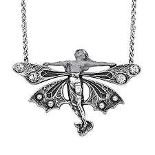 fairy pendant necklace images Van kempen art nouveau fairy necklace with swarovski crystals in jpg