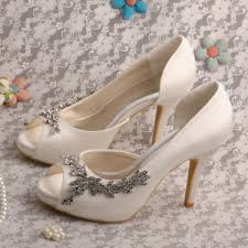 ivory satin wedding shoes china wholesale and retail white butterfly wedding shoes lace high