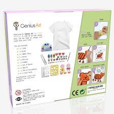 amazon com genius art diy t shirt painting girls and boys arts