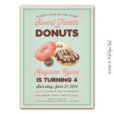 donut party invitations marialonghi com