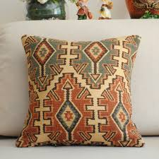 inspiring traditional pattern throw pillow pattern with brown and