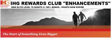 ihg rewards club changes new elite level requiring 75 nights