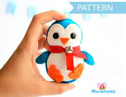 penguin pattern felt penguin ornament felt
