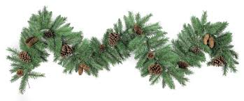 9 200 tips pine garland with pine cone
