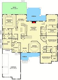 jack and jill floor plans craftsman house plan with sunroom 46313la 1st floor master