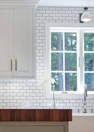 Tile Backsplash With Wood Countertops And Butcher Blocks - Butcher block backsplash