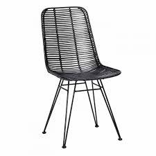 Chaise Design Noir Et Blanc by Chaise Mtal Chaise De Jardin En Mtal Par Hendaia Rouge Decoclico