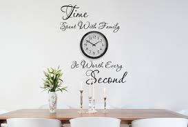 Dining Room Decals Time Spent With Family Wall Decals