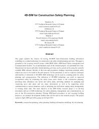 4d bim for construction safety planning pdf download available