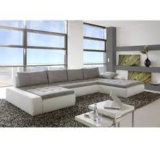 canapé d angle capitonné canapé d angle convertible capitonné pégase blanc gris salon